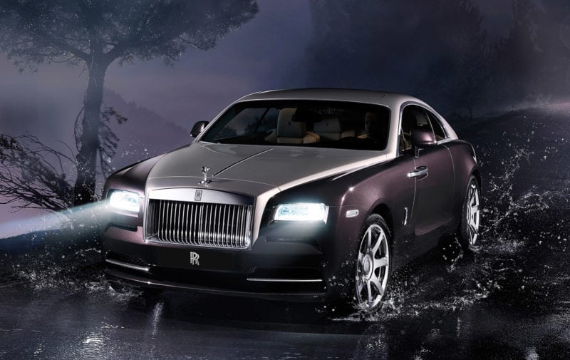 The new Rolls Royce Wraith featuring Satellite Aided Transmission will enter the market in Fall 2013.