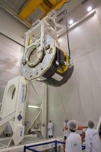 GAIA at intespace Astrium facility during test.