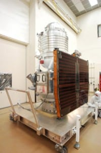Ball Aerospace's Wide-Field Infrared Survey Explorer (WISE) satellite.  Image Credit: Ball Aerospace and Technologies Corp.