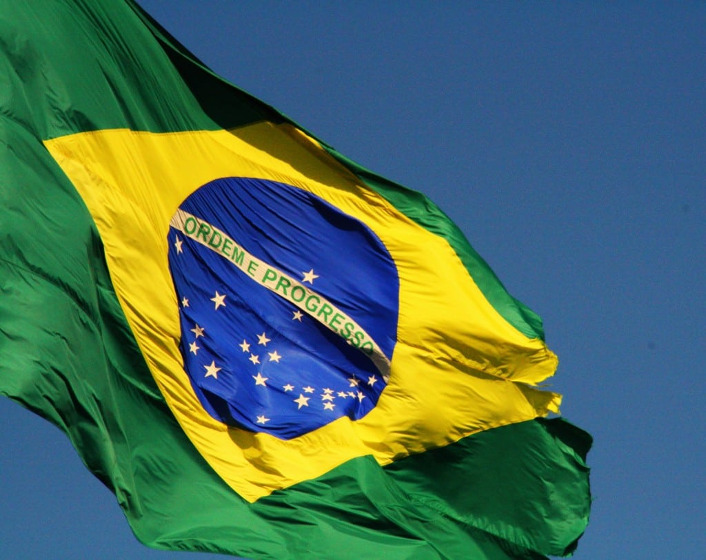 Brazil's flag. Photo: R. Loewenthal