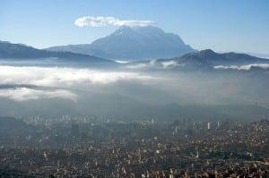Caption: Aerial view of Bolivia's capital, La Paz. Photo: Mark Goble