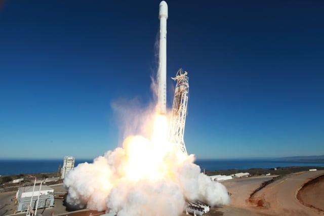 Liftoff of upgraded Falcon 9