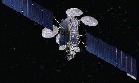 Artist rendering of the A2100 satellite bus.  Photo: Lockheed Martin