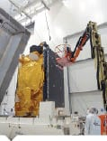Eutelsat Hot Bird 10 satellite before launch. Photo: Arianespace