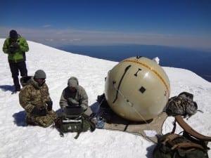 GATR's deployable inflatable antenna in use. Photo: GATR Technologies