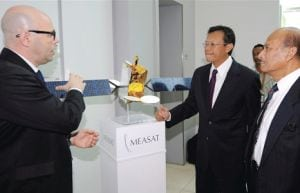 YB Dato' Sri Ahmad Shabery Cheek at Measat