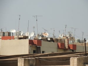 Middle East Satellite Television Dishes