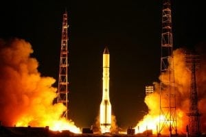 The launch of Express-AT1 and -AT2 from Baikonur