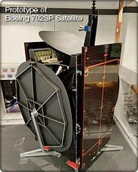 Prototype of Boeing 702SP satellite