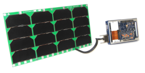 6U solar panel harnessed to Cortex 130 electrical power system card in ring frame Andrews Space