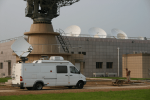 A satellite Newsgathering Truck