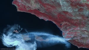Wildfires by DMCii imagery EO