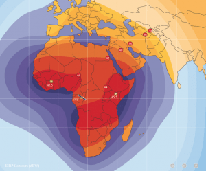 Amos 5 C-band coverage map. Photo: Spacecom