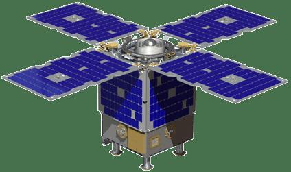 Digital rendering of the Orbital Test Bed. Photo: SSTL