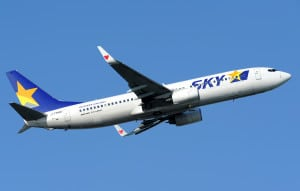A Skymark Airlines Boing 737-800. Photo: Wikipedia
