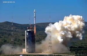 The Long March 4B rocket carrying China's Gaofen 2 satellite. Photo: Xinhua