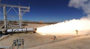 LEO-46 engine hot-fire