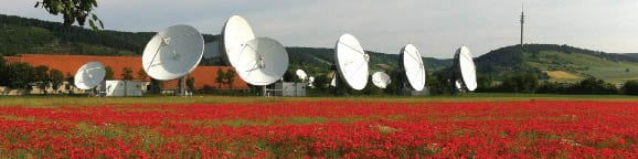 Intelsat's teleport in Fuchsstadt, Germany. Photo courtesy of Intelsat.