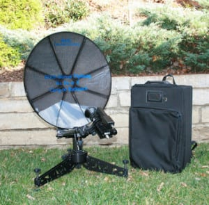 AvL's 60cm Manual Backpack FlyAway Antenna System