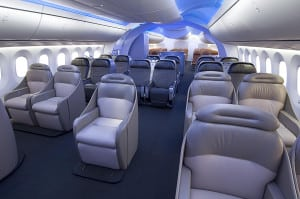 Boeing 787-8 Dreamliner Interior