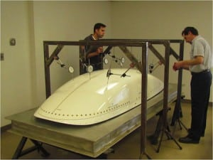 A CPI radome under static loads testing