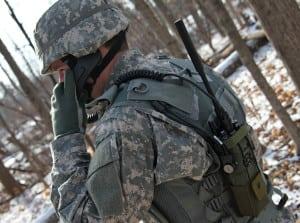 Exelis soldier radio