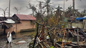One of the worst-hit towns by Typhoon Hagupit in the Philippines.