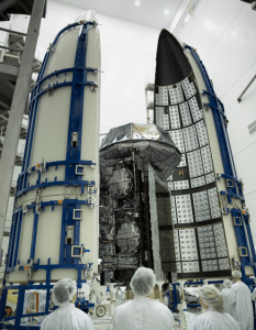 MUOS 3 Encapsulation. Photo: Lockheed Martin.