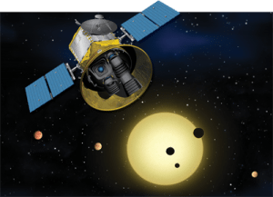 Artist's rendition of the Transiting Exoplanet Survey Satellite]
