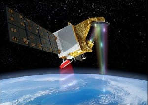 Artist's rendition of the deployed CFOSAT spacecraft in orbit