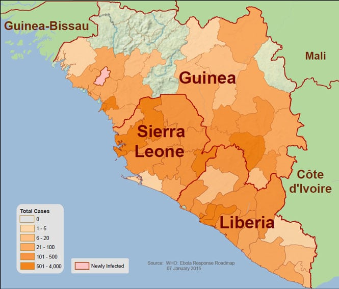 NGA DigitalGlobe Provide Satellite Imagery Data For Ebola - World map online satellite 2014