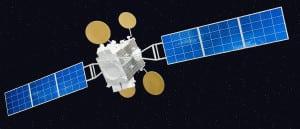AMOS-5 satellite rendering