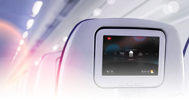 Seatback in-flight entertainment via IFC