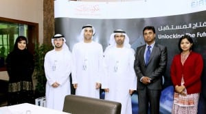 Delegates from the EIAST and ISRO meet at the EIAST facility in Dubai