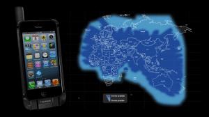 Optus Thuraya SatSleeve on iPhone; communications coverage chart
