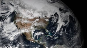 True Color view of North America captured by Visible Infrared Imaging Radiometer Suite (VIIRS) instrument on the NOAA/NASA Suomi NPP satellite