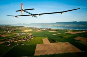 Solar Impulse aircraft in flight