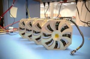 Millennium Space Systems Four RWA-1000 reaction wheels