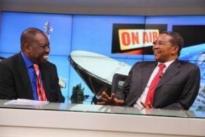 President Kikwete of Tanzania (right) being interviewed by AzamTV's Tido Mhando