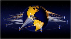 O3b's MEO satellite network, artist rendering