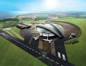 UK Spaceport Rendition