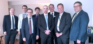 Kymeta and Airbus executives
