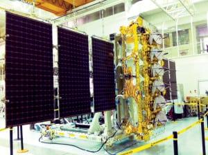 O3b solar array deployed. Photo: O3b Networks