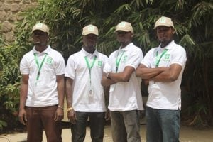 AREWA24 installers ready to point customer dishes to Eutelsat 16A satellite.