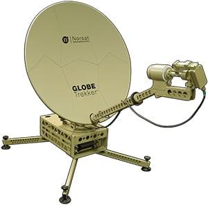 Norsat's GLOBETrekker 2.0 portable satellite terminals.