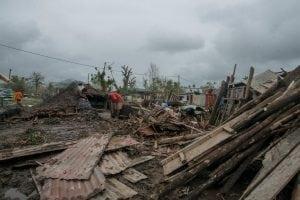 Aftermath of Cyclone Pam in Vanuatu.