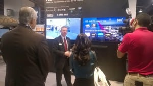 SES' VP of business development for North America discussing the company's 4K strategy at NAB
