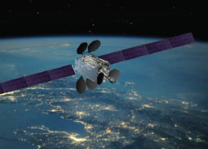 Artist rendition of the Intelsat 33e satellite. Photo: Intelsat