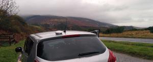 IsatPhone 2 vehicular antenna mounted on car