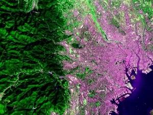 Tokyo Japan taken by the Hodoyoshi 3 satellite.